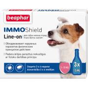 Beaphar İmmo Shield Line-on капли от паразитов для собак весом от 1 до 15 кг, 1 пипетка