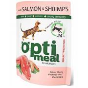 Optimeal  с лососем и креветками в соусе