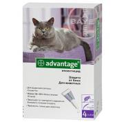 Advantage капли на холку от блох для кошек весом более 4 кг 1 пипетка 0,8 мл