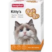 Beaphar Kitty's кормовая добавка с биотином, таурином, протеином для кошек, 180 таблеток