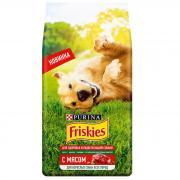 Friskies сухой корм для взрослых собак всех пород с мясом (целый мешок 2 кг)