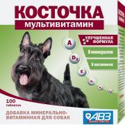 Косточка-мультивитамин, добавка минерально-витаминная для собак, 1 таб.