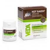 Кот Баюн успокоительное лекарственное средство в таблетках для кошек и собак, 50 табл. по 0,2 г