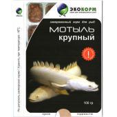 Замороженный корм для рыб мотыль крупный, 100 г