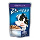 Felix аппетитные кусочки с ягненком в желе, 85 г