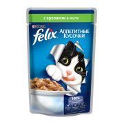 Felix аппетитные кусочки с кроликом в желе