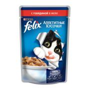 Felix аппетитные кусочки с говядиной в желе
