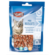 Trixie Mini Nuggets лакомство для кошек с тунцом, курицей и кошачьей мятой