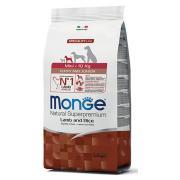 Monge Mini Puppy and Junior Natural Supetoremium Lamb & Rice сбалансированный сухой корм для щенков мелких пород, с ягненком и рисом, супер премиум качества 2.5 кг