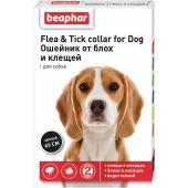 Beaphar Flea & Tick ошейник от блох и клещей для собак, черный, 65 см, 1 шт
