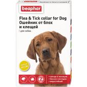 Beaphar Flea & Tick ошейник от блох и клещей для собак, желтый, 65 см, 1 шт
