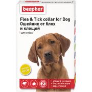 Beaphar Flea & Tick ошейник от блох и клещей для собак, желтый, 65 см