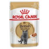 Royal Canin British Shorthair влажный корм для британских короткошерстных кошек старше 12 месяцев в соусе