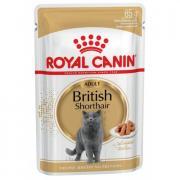 Royal Canin British Shorthair влажный корм для британских короткошерстных кошек старше 12 месяцев в соусе, 85 г