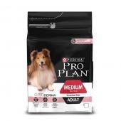 Pro Plan Medium Adult Sensitive Skin для взрослых собак средних пород с чувствительной кожей с лососем и рисом (целый мешок 3 кг)