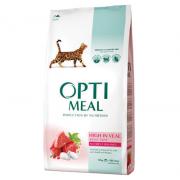 Opti meal сухой корм для взрослых кошек с телятиной (целый мешок 10 кг)