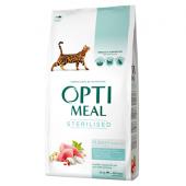 Opti meal сухой корм для кастрированных котов и стерилизованных кошек с индейкой и овсом (целый мешок 10 кг)