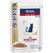 Royal Canin Renal Диета для взрослых кошек с хронической почечной недостаточностью с говядиной, 85 г