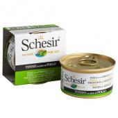 Schesir консервы тунец с курицей в желе 85 г