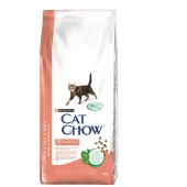 Cat Chow корм для взрослых кошек с чувствительной пищеварительной системой, для здоровья кожи и шерсти (целый мешок 15 кг)
