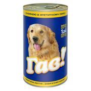 Гав консервированный корм для собак с курицей в аппетитном соусе, 1.240 кг