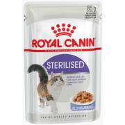 Royal Canin Sterilised влажный корм для стерилизованных кошек в желе, 85 г