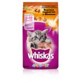 Whiskas для котят аппетитное ассорти с молоком, индейкой и морковью
