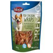 Trixie Fish Chicken Wraps лакомство для собак с мясом птицы и рыбой, 80 г