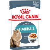 Royal Canin Hairball Care мелкие кусочки в соусе, контроль образования волосяных комочков