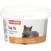 Витамины Beaphar Top 10 с таурином со вкусом креветок, 1 таб.