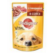 Pedigree для взрослых собак всех пород c говядиной в соусе, 100 г