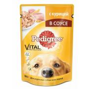 Pedigree для взрослых собак всех пород c курицей в соусе, 100 г