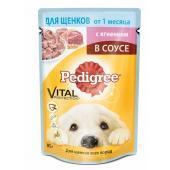 Pedigree для щенков всех пород c ягненком в соусе, 85 г