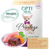 Optimeal для собак мелких и малых пород с индейкой и печенью в тыквенном желе
