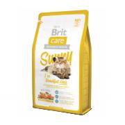 Brit Care Sunny İ've Beautiful Hair сухой корм для кошек для поддержания здоровья кожи и шерсти (целый мешок 7 кг)
