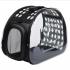 Сумка - переноска прозрачная для кошек и собак мелких пород, черная 40×30×20 см